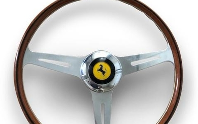 A Ferrari 250 steering wheel,