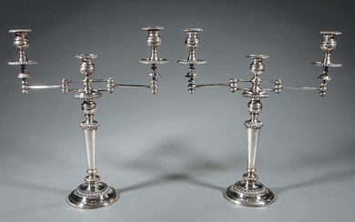Sheffield Plate Three-Light Candelabra