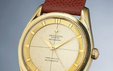 Universal, Ref. 20214-2 A fine and rare gold capped wristwatch with sweep center seconds