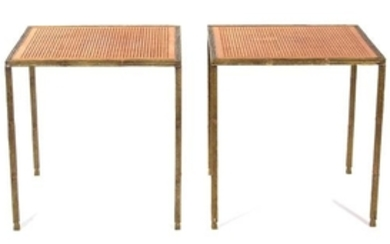 A Pair of Contemporary Gilt Bronze Side Tables