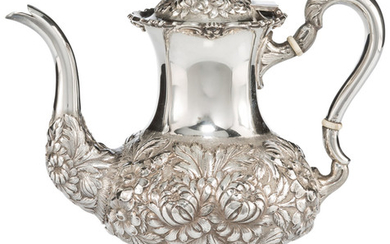 21015: A Stieff Three-Quarter Chased Silver Coffee Pot,