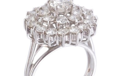 A 1970s diamond cluster ring