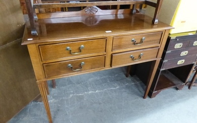 GEORGIAN STYLE MAHOGANY SIDE TABLE WITH FOUR SHORT DRAWERS W...