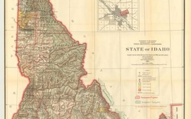 """""""State of Idaho Compiled from the Official Records of the General Land Office and Other Sources..."""", General Land Office"""