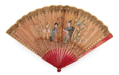 A Late 18th or Early 19th Century Chinese Export Fan,...