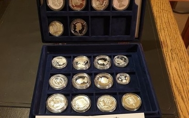 World - 22 coins -1991/1996 - Ships and Explorers Commemorative Coin Collection- Silver