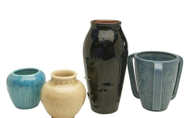 Rookwood Pottery vases, group of four