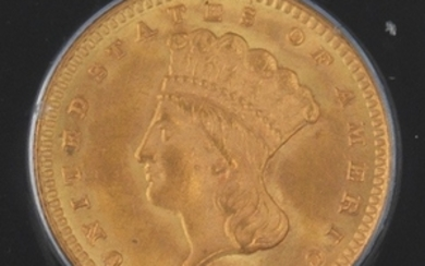 1873 PCGS Graded MS 63 Type 3 Open 3 Variety Gold Dollar