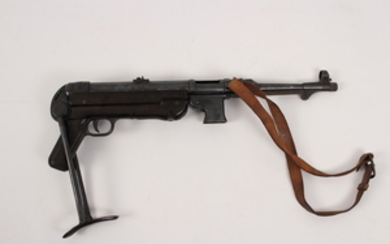 German MP40 9mm under folding stock sub-machine gun from WW II