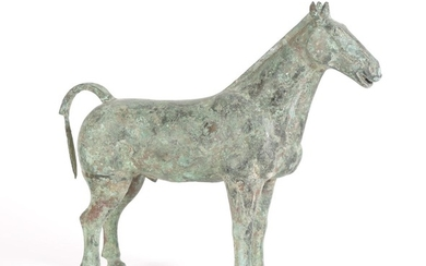 Chinese Bronze Figure of a Horse, Han Dynasty A5WAB