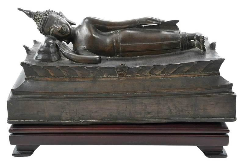 Bronze Figure of Reclining Buddha