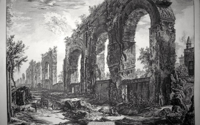 Piranesi, Giovanni: THE AQUEDUCT OF NERO LEADING TO THE PALATINE, Year 1775