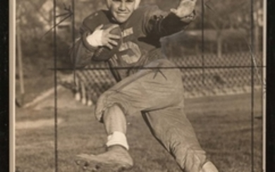 Group of Eight Photographs of Amateur Football Players