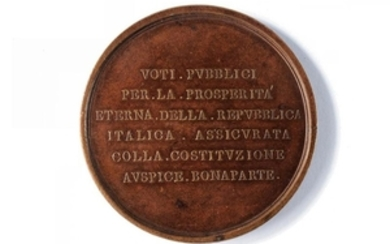 MEDAL OF THE CONSTITUTION OF THE ITALIAN REPUBLIC AT LIONE