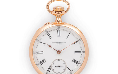 18kt Gold Patek Philippe & Co. Open-face Watch and Box