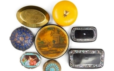 A Collection of Ten Continental Snuff Boxes EA