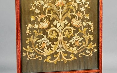 Regency Inlaid Satinwood Firescreen