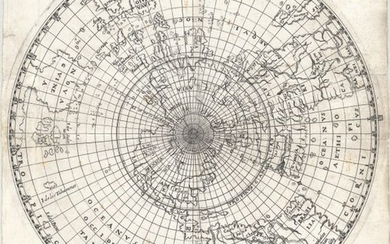 "Ritter's Circular Sundial World Map, ""[Untitled - World]"", Ritter, Franz"