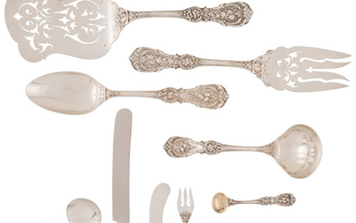 An Eighty-One-Piece Reed and Barton Francis I Pattern Silver Flatware Service (designed 1907)