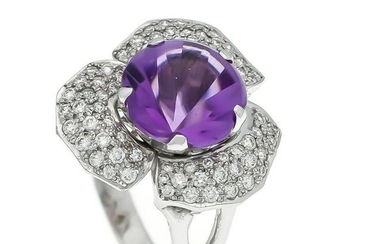 Amethyst brilliant ring W