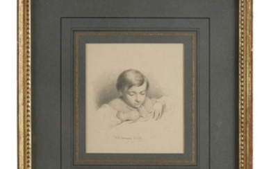 William E. Winner (1815-1883) Two works: Boy Reading and...