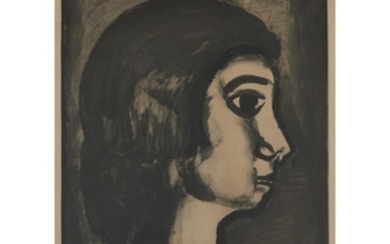 """GEORGES ROUAULT (french, 1871–1958) """"FILLE DITE DE JOIE"""" plate..."""