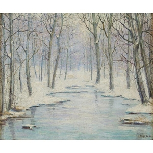 MICHEL JACOBS (american, 1877–1958) WINTER SCENE Signed 'MICHEL JACOBS'...