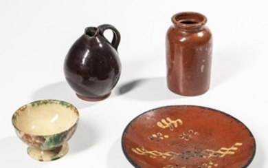 Four Pottery Table Items