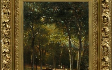 """GEORGE W. WATERS OIL ON CANVAS H 24"""" W 18"""""""