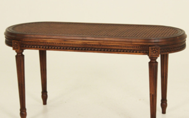 LOUIS XVI STYLE CARVED WALNUT TABOURET