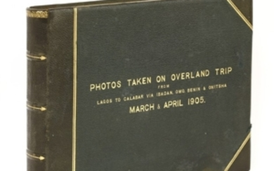 PHOTOGRAPH ALBUM (Possibly by Sir Walter Egerton): Photos Taken on overland trip from Lagos to Calabar via Ibadan