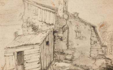 Herman Saftleven, Old Peasant's Cottage with a Barn