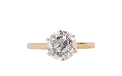 Antique 18kt Gold and Diamond Ring