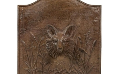 Cast Iron Fox Head Fire Back