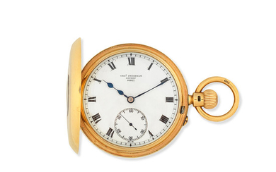 Charles Frodsham, 115 New Bond Street, late of 84 Strand, London. An 18K gold keyless wind half hunter pocket watch