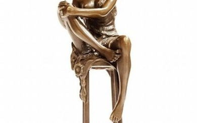 "Charlotte, A Bronze Figurine By ""Pierre Collinet"""