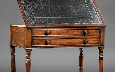 English Carved Mahogany Architect's Desk