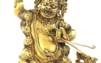 An Extremely Rare Gilt Bronze Figurine of Achala, Mongolia 17-18th Century, Zanabazar School.