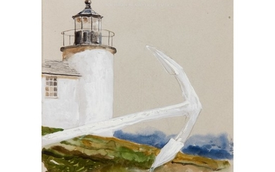 JAMIE WYETH | LETTER WITH A LIGHTHOUSE AND ANCHOR