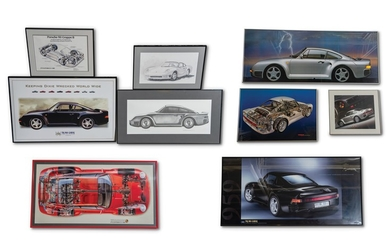 Porsche 959 Framed Posters, Print, and Drawing