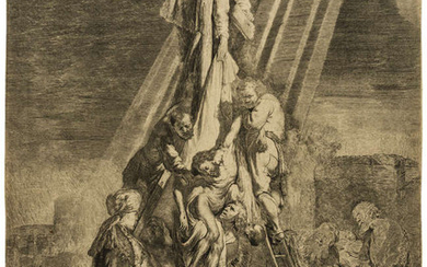 Rembrandt van Rijn (1606-1669) The Descent from the Cross: Second Plate, 1633.