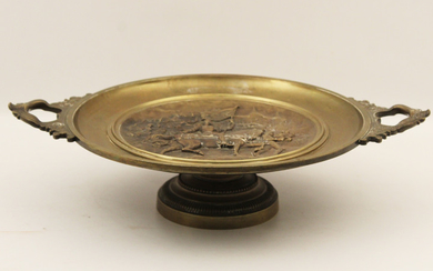 SIGNED FRENCH BRONZE TAZZA