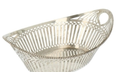 Bonbon basket with ajour openwork side and trimmed with cast pearl silver.