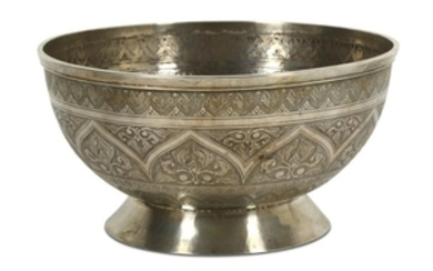 A FOOTED SILVER BOWL Malay Archipelago, mid to late