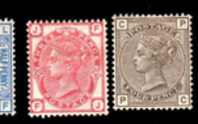 Great Britain 1880/1883 - Some values - Stanley Gibbons NN. 157 - 158 - 160 - 161