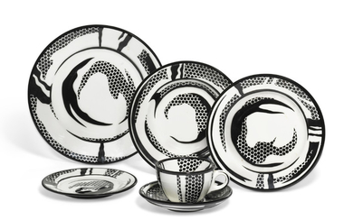 ROY LICHTENSTEIN (1923-1997), Dinnerware: one setting