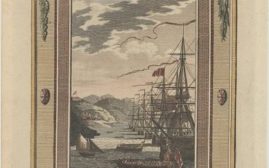 """""""St. Lucia in the West Indies Taken Possession of by Admiral Barrington Monsieur de Micoud and the Inhabitants Having Capitulated the 30th of December, 1778..."""""""