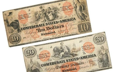 Two Confederate Notes