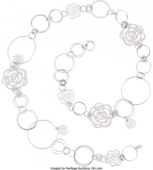 55417: Diamond, White Gold Necklace, Chanel, French Th