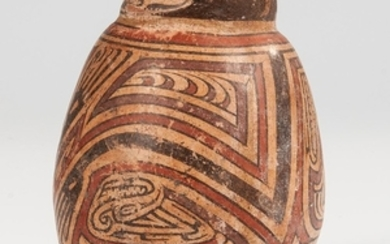Cocle Polychrome Effigy Vessel